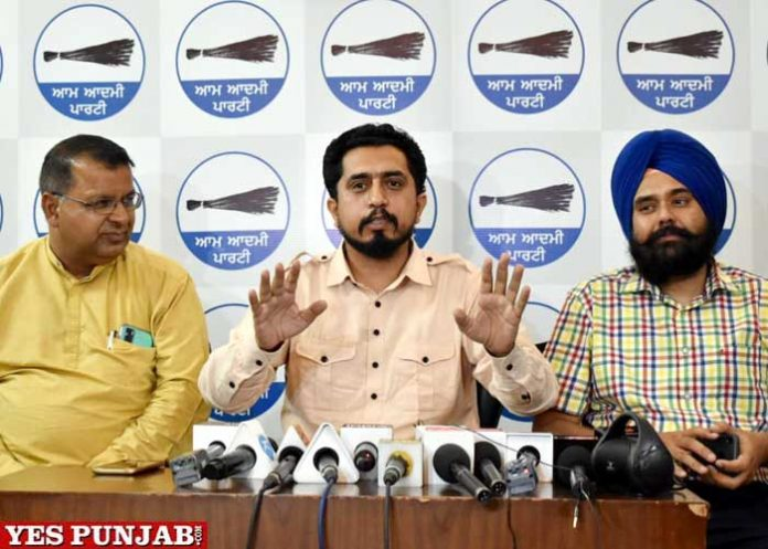 Dinesh Chadha AAP press conference