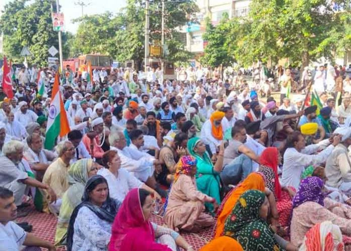 Farmers protest at Karnal Haryana