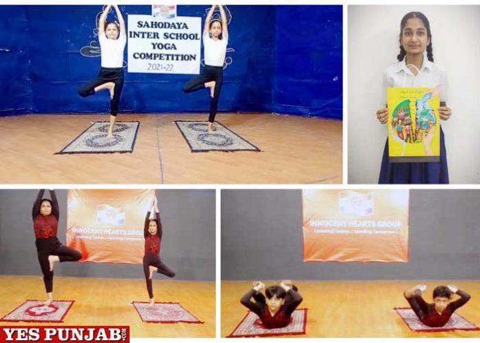 Innocent Hearts Sahodya Inter School Yoga