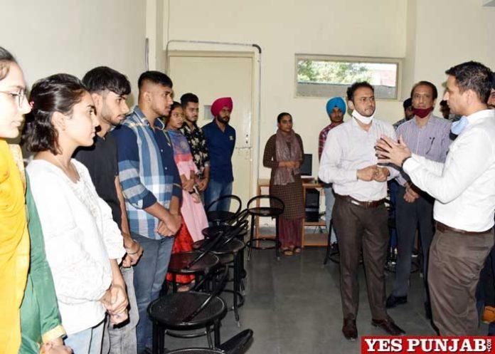 Jalandhar DC Thori visits Multi Skill Development Centers