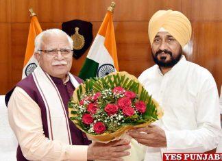 Manohar Lal Khattar meet Charanjit Channi