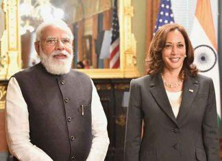 Narendra Modi meet Kamala Harris