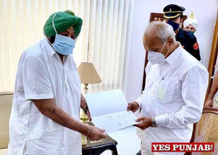 Purohit accepts resignation of Amarinder