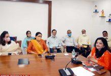 Rakhee Gupta Bhandari meeting Departmental Heads Delhi