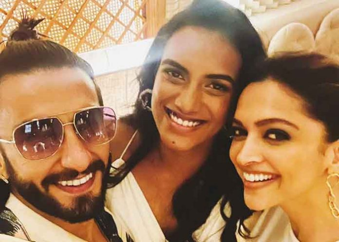 Ranveer Deepika Sindhu Selfie