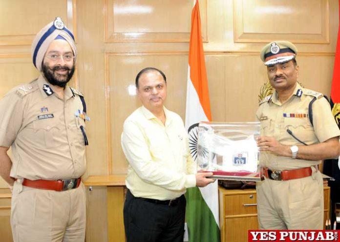 SK Jha MP ADGP visits Haryana
