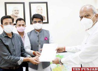 Sachin Sharma submits memo to Punjab Governor