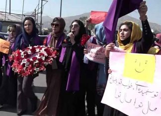 Women protest in Kabul against Taliban