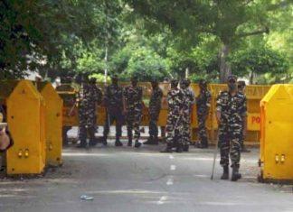 bharat bandh security beefed delhi