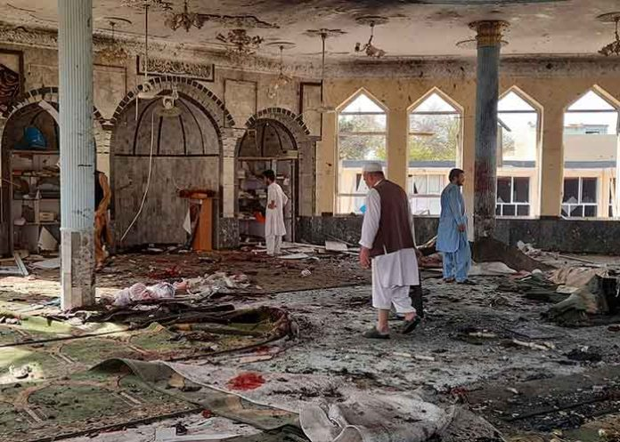 Afghan mosque suicide bombing