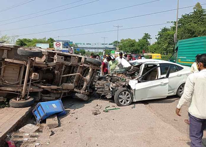 Car Accident in Delhi