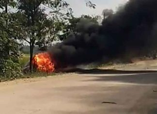 Car ram religious procession Chhattisgarh burned