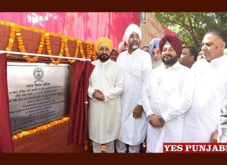 Channi lays foundation stone development projects Bathinda