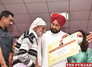 Charanjit Channi distributed cheques to people