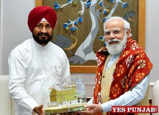 Charanjit Channi meet Narendra Modi