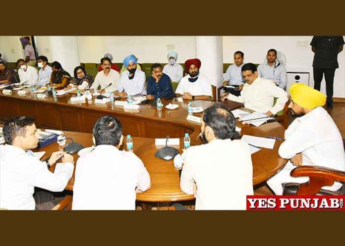 Charanjit Channi meeting with Deputy Commissioners