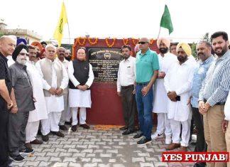 Chaudhary Santokh inaugurates Park develope by Amolak Gakhal