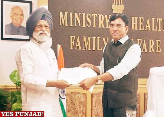 Dr Amar Singh meet Mansukh Mandaviya Union Minister