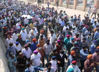 Funeral procession for slain principal Supinder Kaur