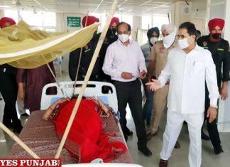 OP Soni visits District Hospital Mohali