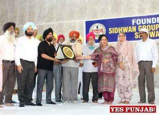 Pargat Singh during Sidhwan Group function