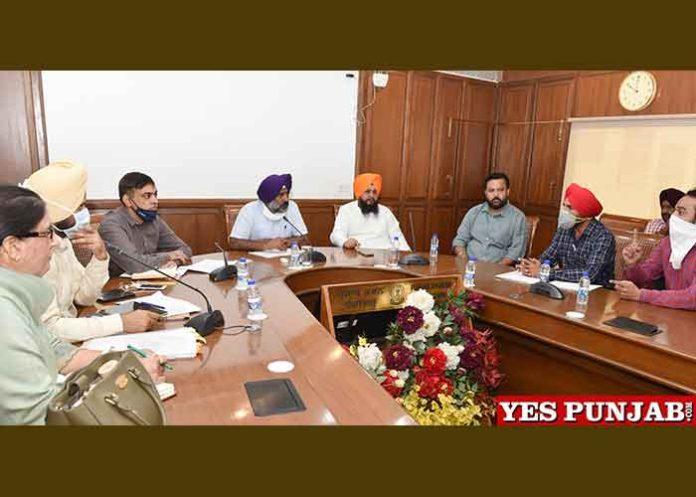 Pargat Singh meeting with Education Dept