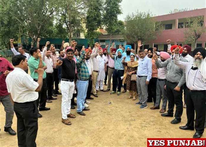 Punjab Education Service Officers protest