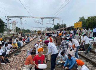 Rail Roko in Punjab 18Oct21