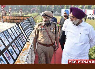 Sukhjinder Randhawa Iqbal Preet Singh pay tributes to police martyrs