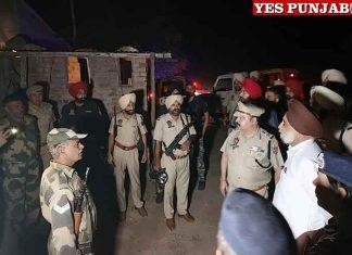 Sukhjinder Randhawa Police nakas adjoining border